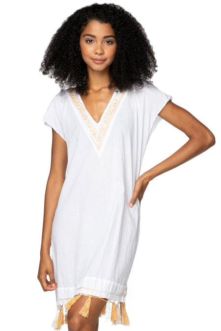 Soft Bouquet Maxi Wrap Dress in White