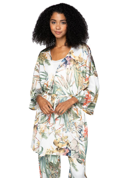Bed to Brunch Roxy Robe in Tropical Escape - Subtle Luxury