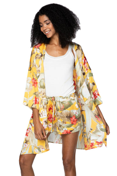 Bed to Brunch Roxy Robe in Golden Hour - Subtle Luxury