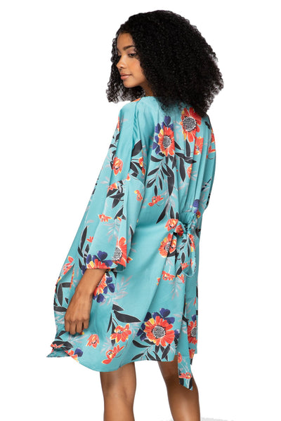 Bed to Brunch Roxy Robe Kimono with Pockets in Summer Bloom - Subtle Luxury