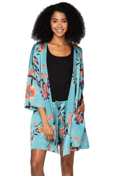 Bed to Brunch Roxy Robe in Summer Bloom - Subtle Luxury