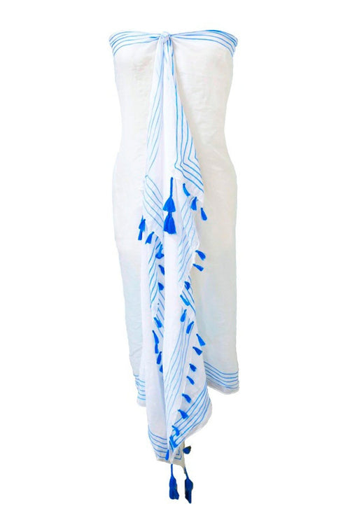 Walk the Line Embroidery Sarong/Scarf Wrap