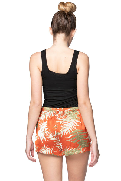 Sasha Lounge Short in Bold Ferns