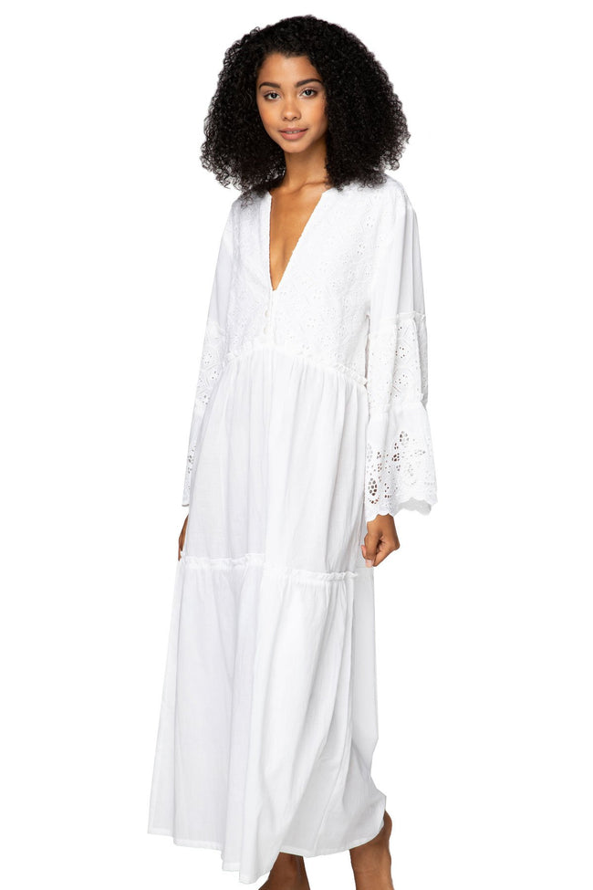 Siren Maxi Dress in White - Subtle Luxury