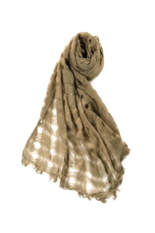 Open Weave Texture Scarf in Olive by Spun - Subtle Luxury
