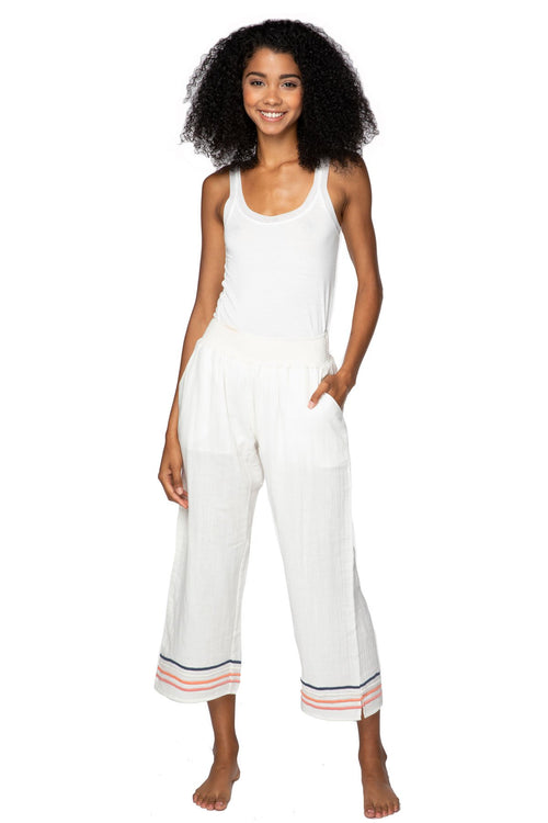 Vivianne Pant in White - Subtle Luxury