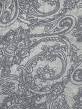 Orchid Scroll Printed Scarf in Grey