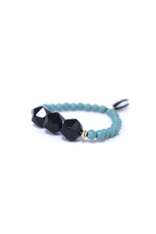 Triple Stone Bracelet in Onyx - Subtle Luxury