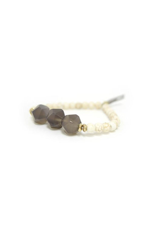 Triple Stone Bracelet in Smoke