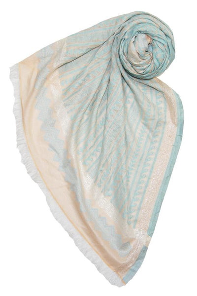 Tidal Wave Scarf in Aqua