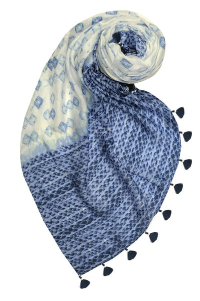 Behind Blue Eyes Scarf in Blue