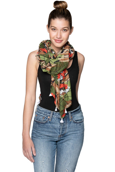 Lotus Pathway Scarf in Multi - Subtle Luxury