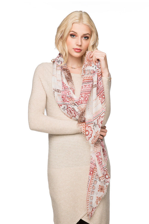 Patches of Prints Printed Scarf - Subtle Luxury