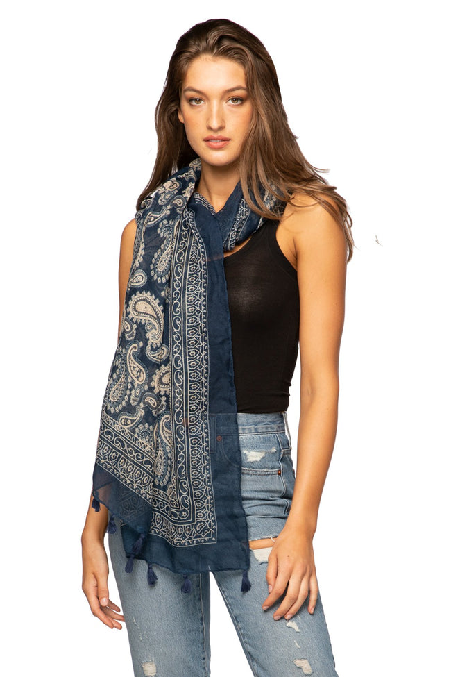 Classic Bandana Scarf in Navy - Subtle Luxury
