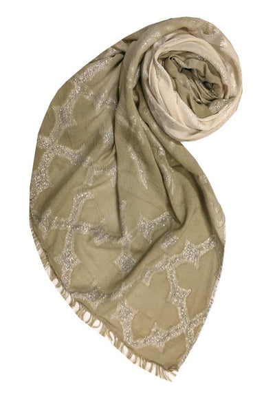 Woven Shine Scarf in Tan - Subtle Luxury