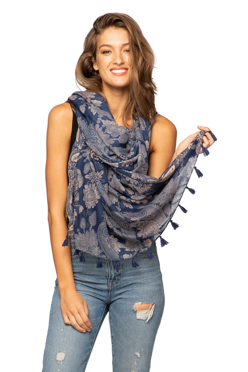 Bandana Baby Scarf in Blue - Subtle Luxury