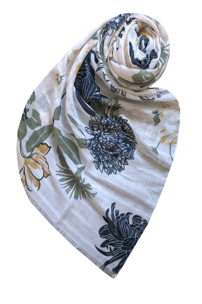 Mums the Word Scarf in White