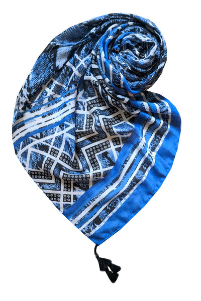 Bebop Blues Scarf in Blue