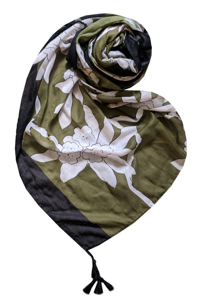 On the Vine Scarf in Olive - Subtle Luxury