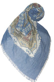 Native River Scarf in Blue