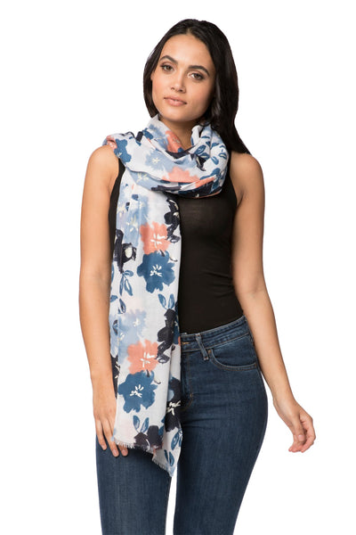 Pretty Petunia Scarf in Blue