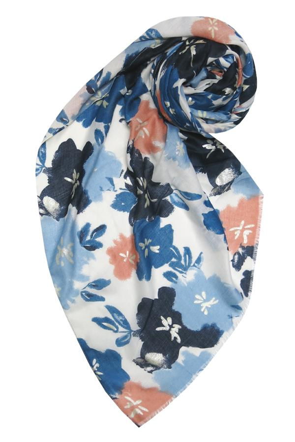 Pretty Petunia Scarf in Blue - Subtle Luxury