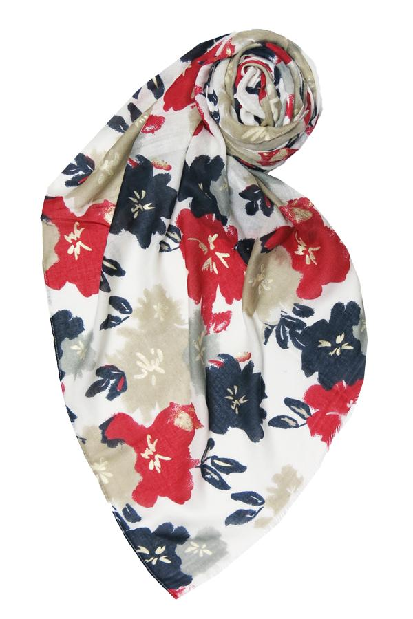 Pretty Petunia Scarf in Red - Subtle Luxury