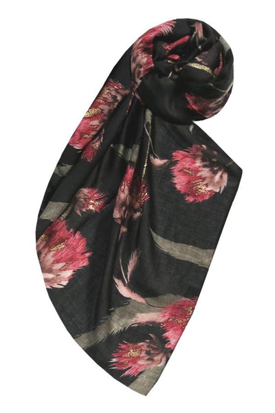Summer Romance Scarf in Black