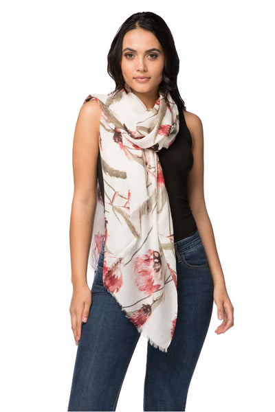 Summer Romance Scarf in Ivory