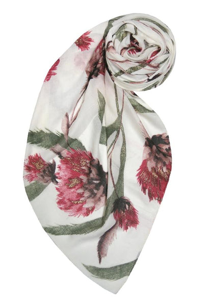 Summer Romance Scarf in Ivory - Subtle Luxury