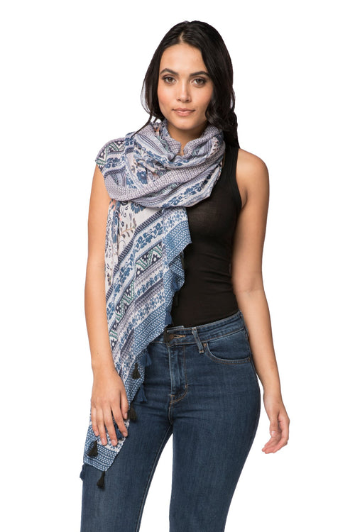 Antique Haven Scarf in Navy - Subtle Luxury