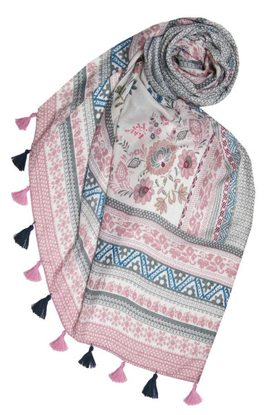 Antique Haven Scarf in Pink - Subtle Luxury