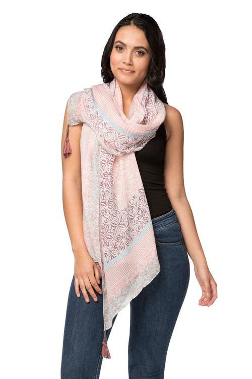Lila Blush Scarf in Pink - Subtle Luxury