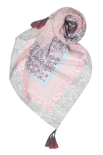 Lila Blush Scarf in Pink