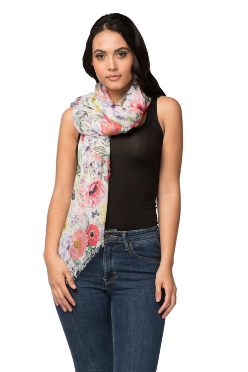 Maryanne Blossom Scarf in Multi - Subtle Luxury