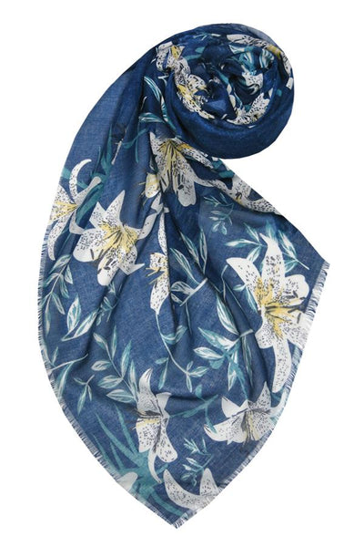 Lovely Lily Scarf in Navy - Subtle Luxury