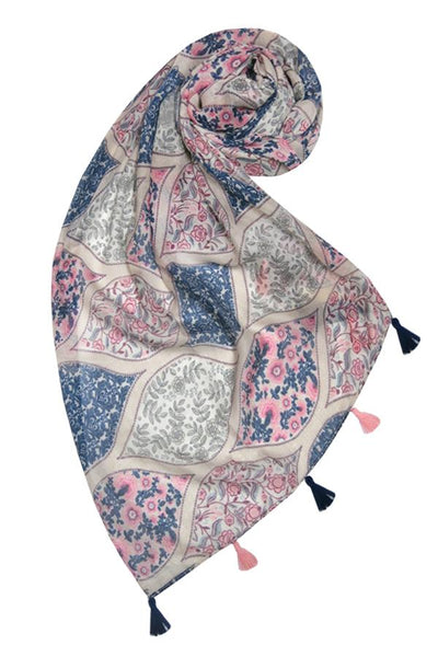 Lattice Garden Scarf in Multi - Subtle Luxury