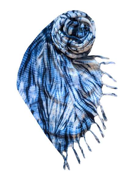 Indigo Diamond Scarf in Indigo