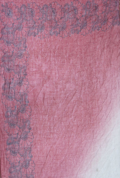 Ombre Henna Printed Scarf in Red - Subtle Luxury