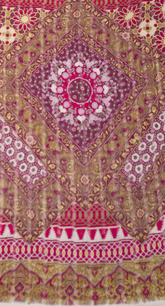 Morrocan Shaker Digital Print Scarf in Berry