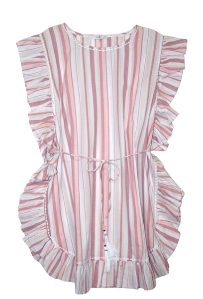 Emma Kaftan Dress in Tie Dye and Stripe