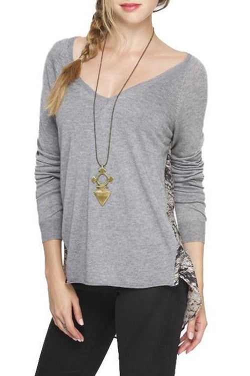 Vintage Silk Raglan V-Neck - Subtle Luxury