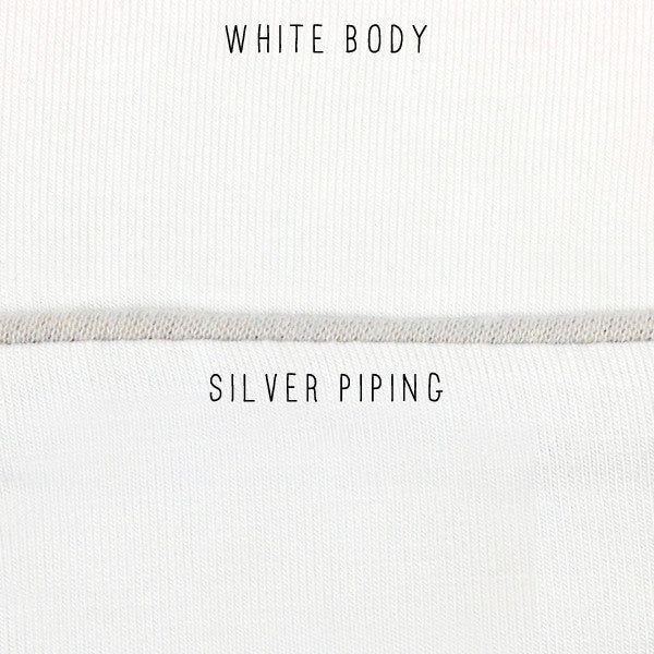 Pippa PJ Pant in White/Silver - Subtle Luxury