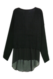 Back Panel Chiffon Sweater - Subtle Luxury