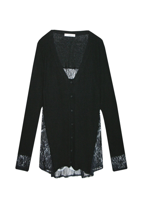 Lace Back Button-Up - Subtle Luxury