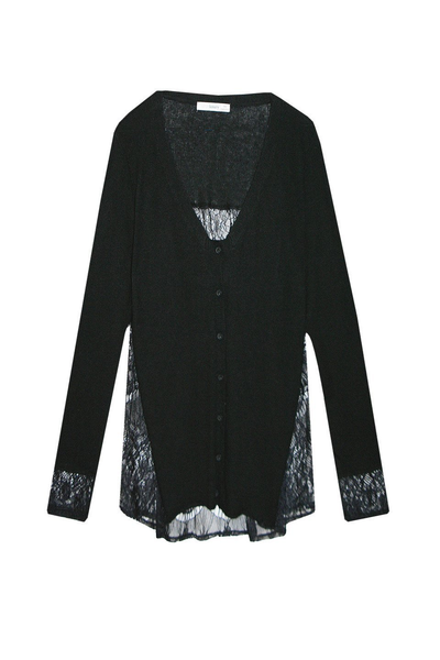 Lace Back Button-Up