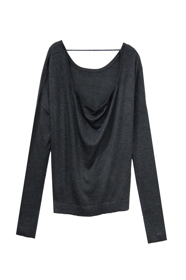 Drape Back Crop Crew - Subtle Luxury