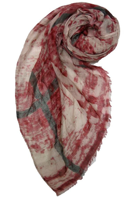 Tiny Dancer Printed Scarf in Red - Subtle Luxury