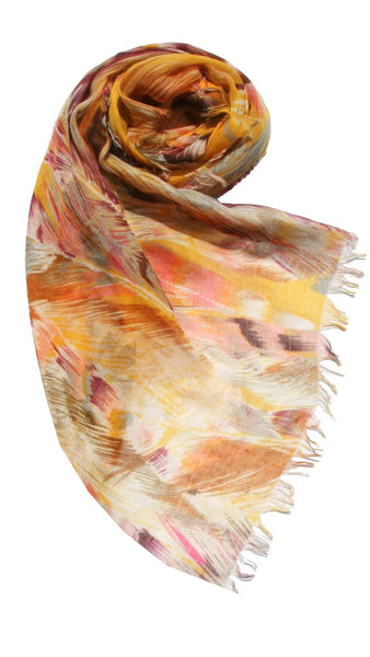 Spun - Free Spirit Print Scarf in Sunshine - Subtle Luxury