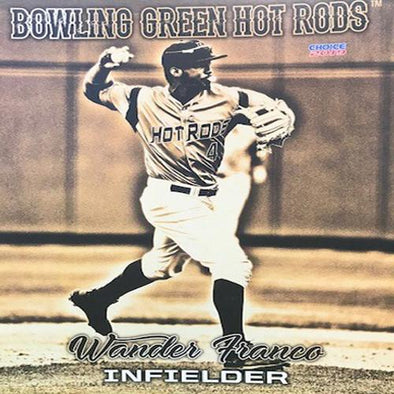 Bowling Green Hot Rods Wander Franco Jumbo Card